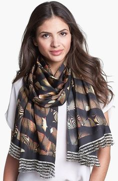 Ted Baker London Zebra Print Silk Scarf available at #Nordstrom