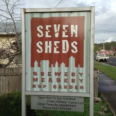 Look for this sign on the street. Parking for standard cars and vans up the driveway. Larger vehicles should park on the street. Sheds, Brewery, Four Square, Larger, Vans, Sign, Street, Holiday Decor, Vehicles
