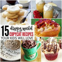 I have some great Copycat Disney World Recipes You can Make at Home for you today! Your little Disney fans will LOVE these delicious recipes, so be sure to check them out! Girl Scout Cookies Recipes, Cookie Recipes, Dessert Recipes, Fundido Recipe, Dole Whip Recipe, Disney Inspired Food, Disney Dishes, Disney Cookies, Disneyland Food