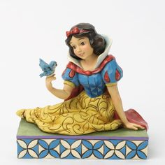 """There's a reason why birds will happily land on Snow White's finger. """"GENTLENESS AND HARMONY"""" - SNOW WHITE WITH BIRD FIGURINE (Jim Shore Disney Traditions) (from Walt Disney's """"Snow White and the Seven Dwarfs"""")"""