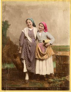 Italia, Costumi - G.Incorpora - Ragazze siciliane    #Europe #Italia #Costumi_Types