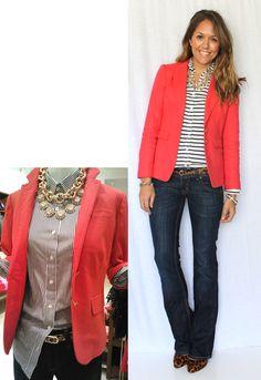 Js Everyday Fashion - stripes/jacket/jeans