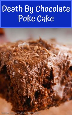 Chocolate cake, chocolate fudge filling, and chocolate buttermilk…this recipe is for serious chocoholics only. Whatever thе stats аrе I аm … Cake Mix Desserts, Poke Cake Recipes, Poke Cakes, Homemade Cake Recipes, Fun Desserts, Baking Recipes, Delicious Desserts, Dessert Recipes, Best Chocolate Cake