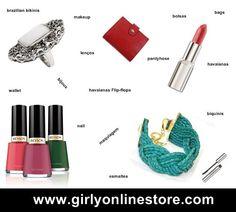 Girly Online Store has been launched!  Girly Online Store está online! Visite-nos e conheça as nossas bolsas em couro legítimo, bijoux, maquiagens, esmaltes, acessórios e moda praia.  www.girlyonlinestore.com