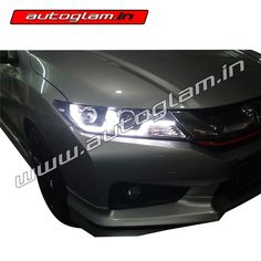 Honda City Aftermarket Headlights are very good option to the original headlights. It enhances the look of the car not just in dark but also in the daytime. Projector Headlights, Car Headlights, Aftermarket Headlights, Hidden Projector, Honda City, City Car, Weather Conditions, Bmw, Style