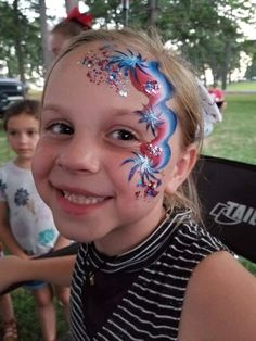 4th Of July, Carnival, Face, Painting, Independence Day, Carnavals, Painting Art, The Face, Paintings