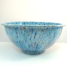 10 Vintage Medium Blue Texas Ware Confetti Bowl by VintageCreekside, $36.00