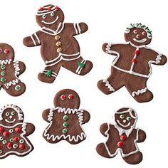 chocolate-gingerbread-people-R135902 Christmas Cookies Kids, Traditional Christmas Cookies, Christmas Cookie Exchange, Cookies For Kids, Christmas Cooking, Holiday Cookies, Christmas Recipes, Holiday Recipes, Christmas Goodies