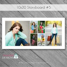 This beautiful template is ready for you to customize, print and present to your clients. Our templates make beautiful displays quickly and easily. Storyboard Template, Graduation Templates, Senior Boys, Graduation Announcements, Polaroid Film, Collage, Photoshop, Trending Outfits, Digital