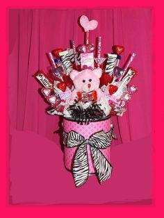 353 Best Valentine Bouquets Images In 2019 Candy Arrangements