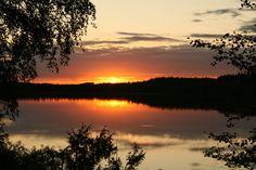 Summer of Linnansaari National Park Finland