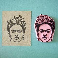Diego Rivera Portrait Stempel Frida Kahlo Porträt Stempel von CassaStamps aus Barcelona auf Etsy