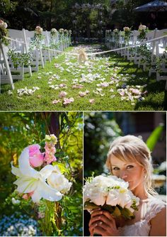 Garden-inspired wedding at the Beverly Hills Hotel.