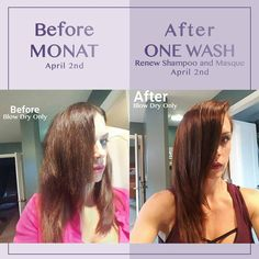 This happened yesterday and in just ONE WASH with MONAT!!!!! MONAT's products continue to amaze me every day!! Check out Jaime Berntzen Barry's hair: silky soft, shinier, no frizz, smoother and the color looks super rich���������� She used the samples she received  Again, this right here is WHY I �� my job with MONAT...I can help and be a part of the change in so many lives�� tears of joy������ #monatbeliever #Monat #opportunity #realresults #loveyourhair #hairstylist #cosmetology…