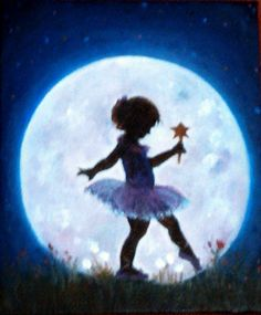 """A la luz de la luna"" óleo sobre lienzo"
