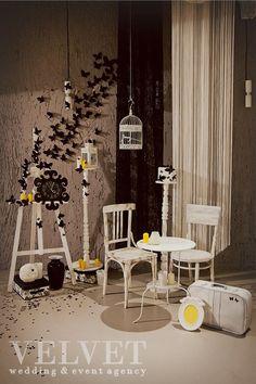 Классическая черно-желтая свадьба Евгения и Татьяны. Фотозона