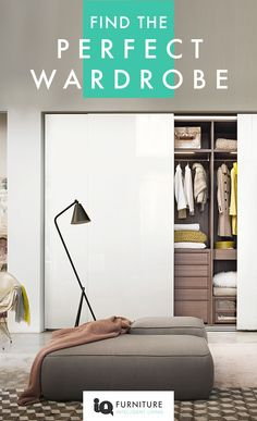 IQ Furniture are known for their elegant wardrobes from famous designer brands from around the world. Add some luxury to your bedroom design with a sliding, hinged or a stunning walk in wardrobe.