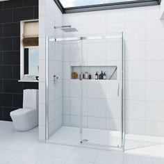See our Infiniti 8mm sliding shower enclosure  plus many more Rectangle shower enclosures at VictoriaPlum.com. Plus 365 day no quibble returns. - £329