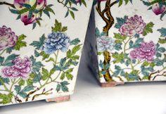 Pair Antique Chinese Qing DAYAZHAI MK Famille Rose Porcelain Flower Planter Pot | eBay