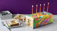Regenbogenkuchen mit Zahl