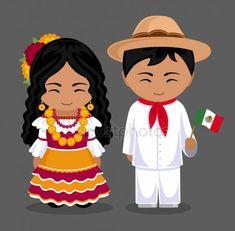 Mexicanos en ropa nacional