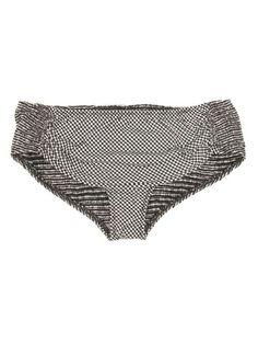Gingham Shirting Fancy Bikini Bottoms