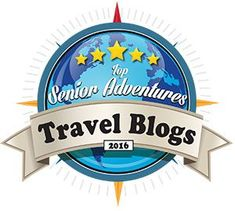 Top Senior Adventures Travel Blog Badge