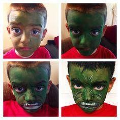 Hulk Halloween makeup.