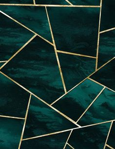 Dark Teal Ink Gold Geometric Glam Comforters by Anita's & Bella's Art - Queen: x Gold Green Wallpaper, Teal Wallpaper Iphone, Black And Gold Aesthetic, Slytherin Aesthetic, Aesthetic Colors, Dark Teal, Teal And Gold, Geometric Art, Aesthetic Wallpapers