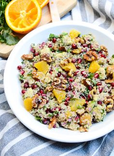 Citrus Avocado Quinoa Salad with Honey Walnuts Recipe | Yummly
