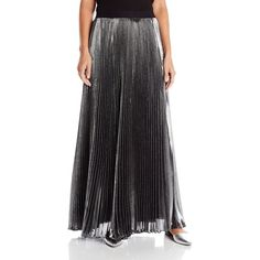 Rebecca Taylor Women's Lurex Pleat Maxi Skirt ($595) ❤ liked on Polyvore featuring skirts, long pleated skirt, maxi skirt, rebecca taylor skirts, long skirts y pleated maxi skirt