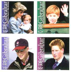 Gibraltar Stamps - Princess Diana & Prince Harry