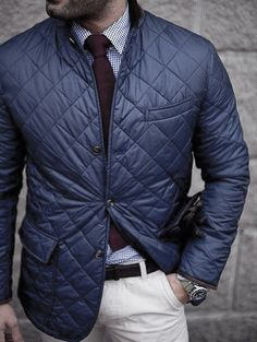 4a085c23e76 Business Casual Cool Winter Outfits Style Looks For Men Veste Bleu