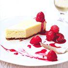 Vanille cheesecake met frambozen