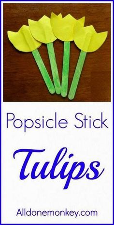 Popsicle stick tulips