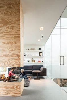 You can see through this fireplace in a home in The Netherlands.
