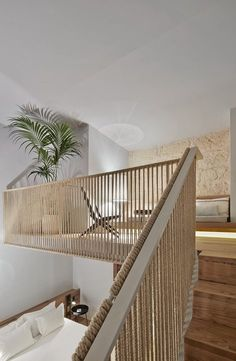 Natural hemp ropes | Puro Hotel, Palma deMallorca, 2016 - OHLAB - OLIVER HERNAIZ ARCHITECTURE LAB