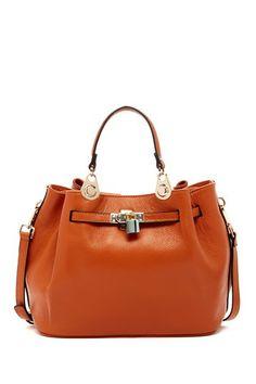 Melrose' faux leather satchel large