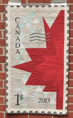 Happy Canada Day quilt by M-R Charbonneau | Quilt Matters