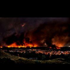 Waldo Canyon fire in Colorado Springs, CO. Crazy.