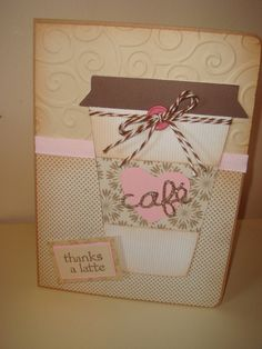 Thanks a Latte gift card holder by CraftyClippingsbyPeg on Etsy