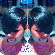 Razor Chic of Atlanta If I Ever Run Into Ms. Jasmine Collins, I Would LOOOOVE To… 27 Piece Quick Weave, Relaxed Hair, Short Styles, Short Quick Weave Styles, Short Weave, Long Hair Styles, Short 27 Piece Hairstyles, Short Quick Weave Hairstyles, Pretty Hairstyles