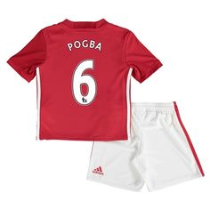 Manchester United Home Mini Kit 2016-17 with Pogba 6 printing: Manchester United Home Mini Kit… #ManUtdShop #MUFCShop #ManchesterUnitedShop