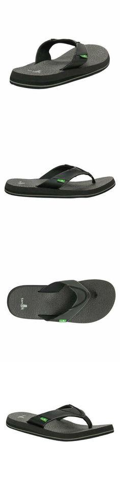 379164a89e77 Sandals 11504  New Sanuk Beer Cozy Black Men S Casual Flip Flop Sandals  Sms10868 Pk