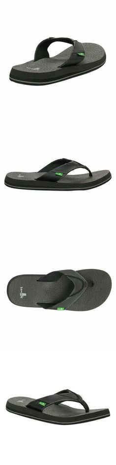 02adf1105a10 Sandals 11504  New Sanuk Beer Cozy Black Men S Casual Flip Flop Sandals  Sms10868 Pk