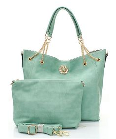 Milla 2 in 1 Tote Set in Soft Mint Mint Mint