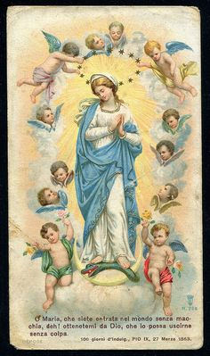 Virgem Maria e os Anjos The post Virgem Maria e os Anjos appeared first on Moja strona. Images Of Christ, Religious Images, Religious Icons, Religious Art, Blessed Mother Mary, Blessed Virgin Mary, Virgin Mary Art, Catholic Pictures, Vintage Holy Cards