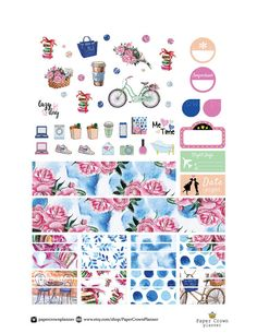 GIRL ABOUT TOWN Sticker Kit/Printable Planner Stickers/Erin