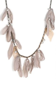 Lanvin ribbons and pearls necklace. Like little spring buds on trees.  Gorgeous.