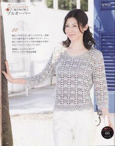 un pull très léger au crochet pour l'été - La Grenouille Tricote